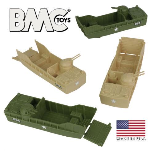 BMC Marx Recast Landing Craft Tan OD Green Plastic Army Men Higgins Boat LCVP