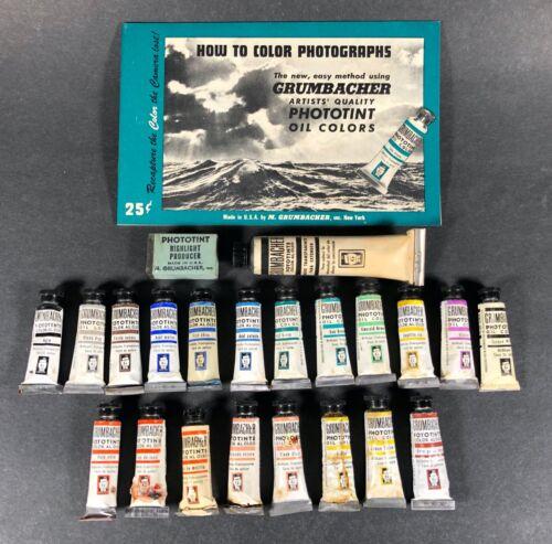 Vintage Grumbacher Phototint Oil Color Set