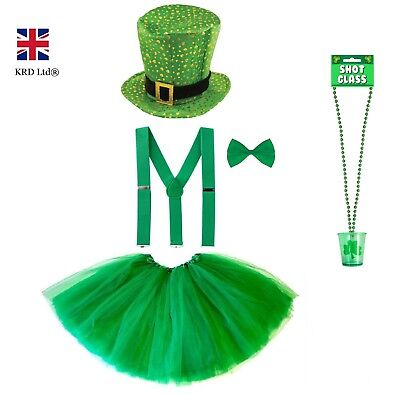ST. PATRICK`S DAY FANCY DRESS COSTUME Party Irish Girls Clover Accessory Lot - Irish Girl Kostüm