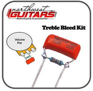 Sprague Orange Drop Treble Bleed Kit (0.001uf) for Strat Tele and Other Guitars