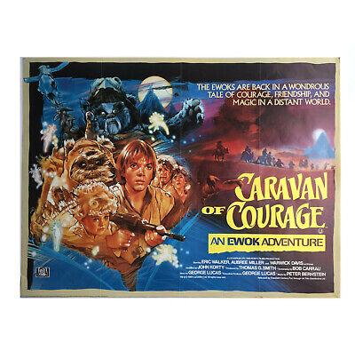 "STAR WARS CARAVAN OF COURAGE - AN EWOK ADVENTURE RARE 40""x30"" UK QUAD POSTER"