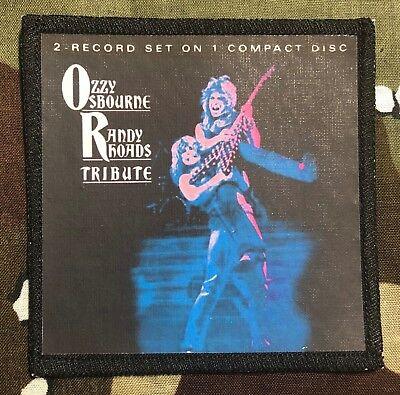 Ozzy Osbourne Randy Rhoads Tribute Printed Patch O015P Black Sabbath Dio
