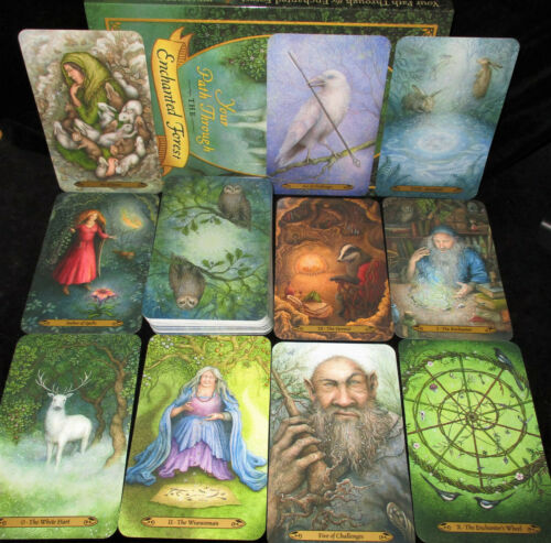 SEALED NEW ~ FOREST OF ENCHANTMENT TAROT CARDS & BOOK ORACLE FANTASY ANIMALS