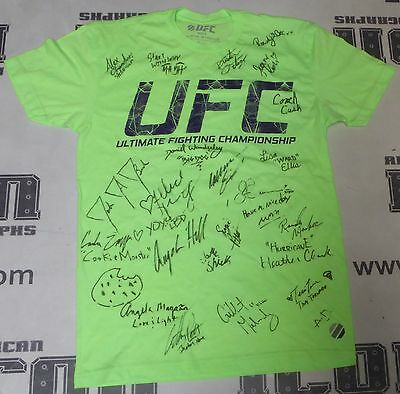 Rowdy Bec Rawlings 23X Signed Personally Worn Used Ufc Tuf 20 Cast Shirt Psa Dna