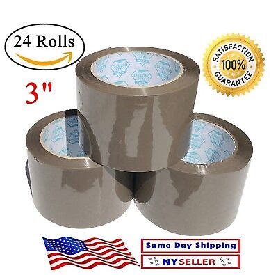 24 Rolls Brown Tan Carton Sealing Packing Tape Shipping 3 Inch  3