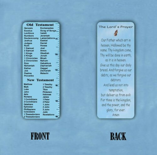 BOOKMARK BOOKS OF THE BIBLE- RULER-LORDS PRAYER LARGE LAMINATED