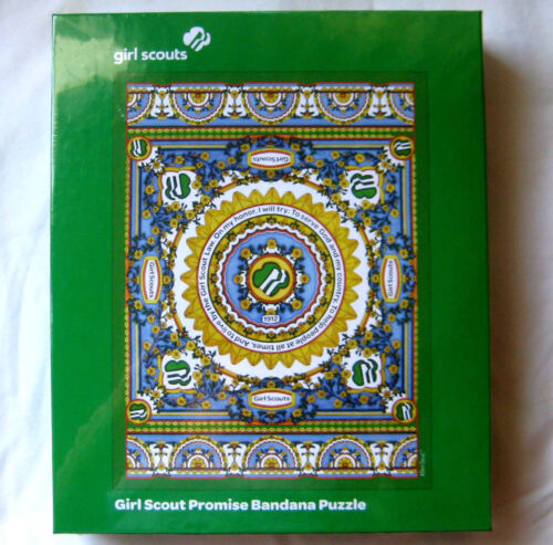 """Girl Scout PROMISE BANDANA PUZZLE 500 Piece Toy Project Leader GIFT 18 x 24"""" NIB"""