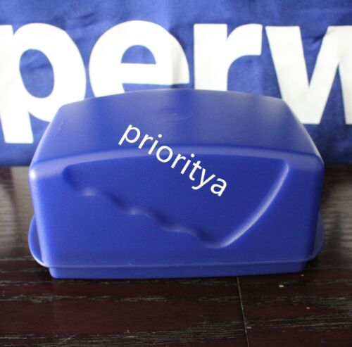 Tupperware Impressions Large Butter Margarine Dish Tokyo Blue New in Package