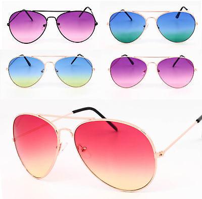 Pantone Lens Ladies Classic Retro Fashion Pilot Sunglasses Two Tone lens