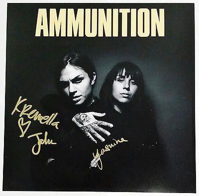 KREWELLA SIGNED AMMUNITION 12X12 ALBUM COVER PHOTO W/COA JAHAN YASMINE