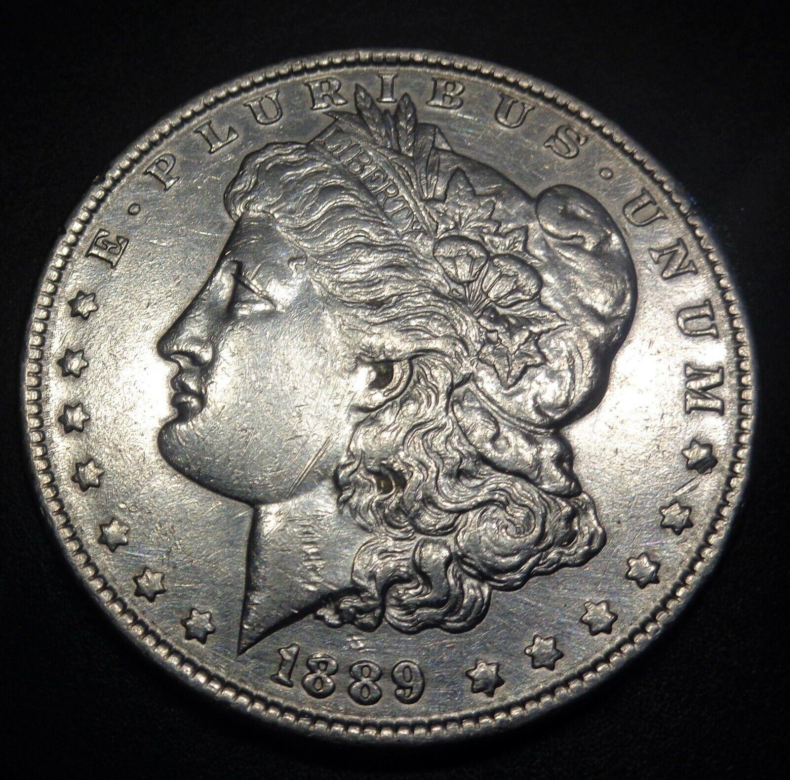 HIGH GRADE Detail 1889 P Philadelphia Silver Morgan 1 Dollar NO RESERVE AUCTION - $35.75