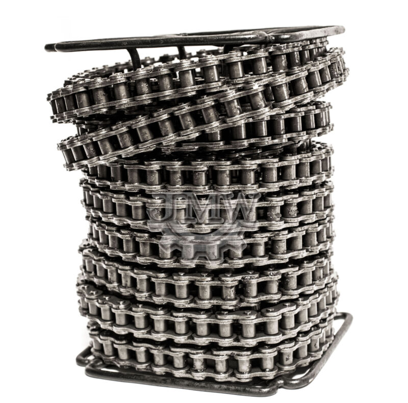 #60 Roller Chain 100 Feet with 10 Connecting Links