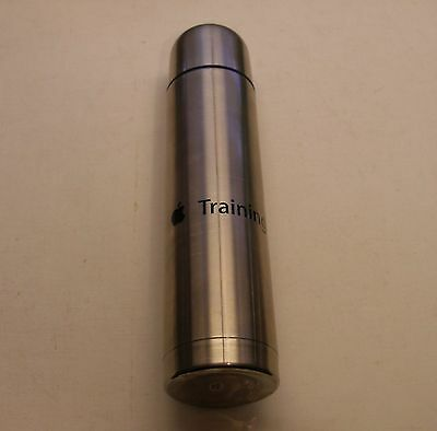 """Apple Logo Stainless Steel 13"""" Tall Apple Training Thermos by Apple - RARE"""