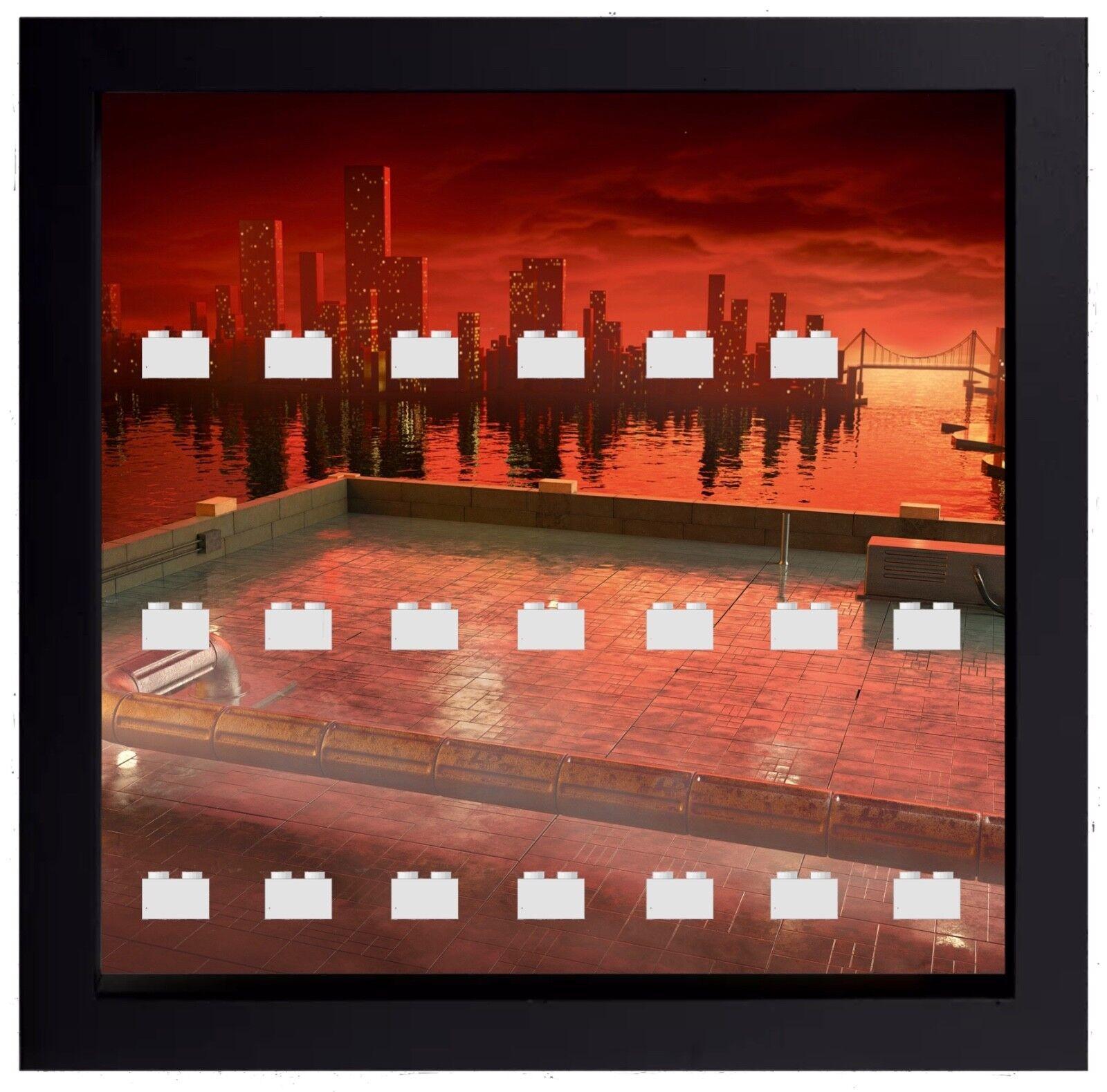 Display Case Frame for Lego Batman Movie Series 1 or 2 minifigures figures 25cm