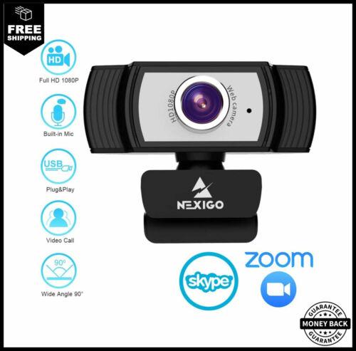 1080P Webcam For Streaming 2020 NexiGo Web Camera With Microphone For Zoom