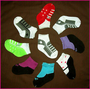 BABY-Socks-Sz-1-3-age-6-18-mths-IMITATION-SHOES-Infant-Sox-NEW-Boy-or-Girl
