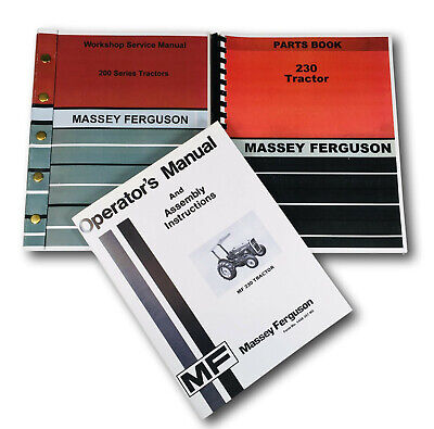 Massey Ferguson 230 Tractor Service Operators Parts Manual Catalog Repair Shop