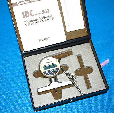 Mitutoyo Digital Depth Gage 0-8 With All Attachments And Case. Like Nu