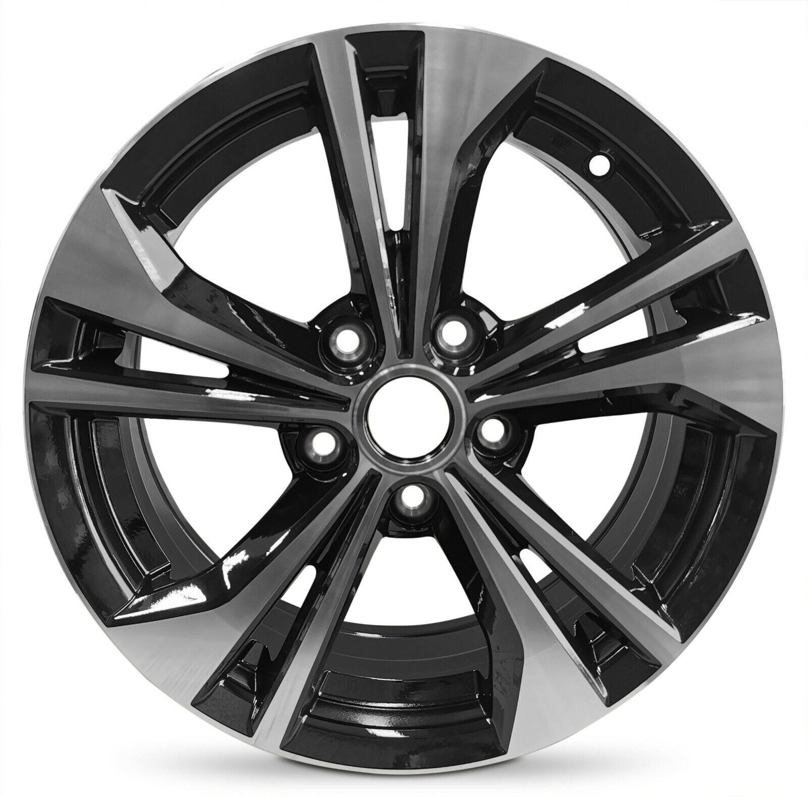 16 Inch Alloy Wheel Rim For 2020 Nissan Sentra Black Machined With 5 Lug 16x6 5 Ebay