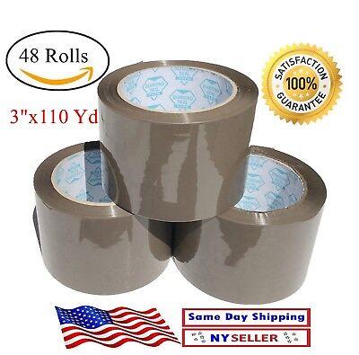 48 Rolls Brown Tan Carton Sealing Packing Tape Shipping 3 Inch  3