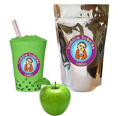 Green Apple Boba / Bubble Tea Powder by Buddha Bubbles Boba (10 Ounces)
