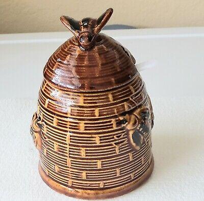 Vintage Honey (Vintage Honey Bee Ceramic Jar With Lid And Spoon Japan )