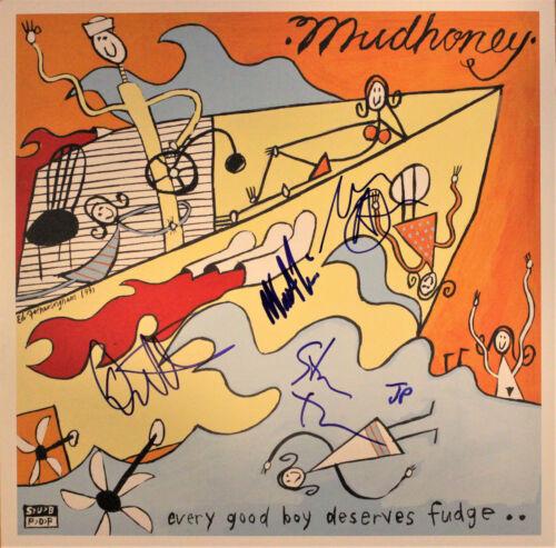 MUDHONEY Every Good Boy Deserves Fudge -Mark,Steve,Dan, Matt- SIGNED JON PONEMAN