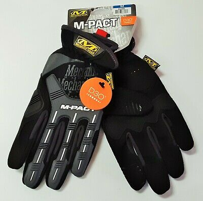Mechanix Wear Mens Medium M-pact Synthetic Leather Work Gloves Open Cuff