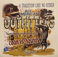 COONS VS HOUNDS MIDNIGHT BANDIT COONDOG COON HUNTING #525 POCKET SHIRT
