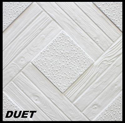 10 m2 Deckenplatten Styroporplatten Stuck Decke Dekor Platten 50x50cm, DUET