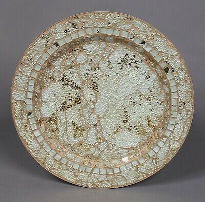 Charger Plates Mosaic on Metal Sea Green 13