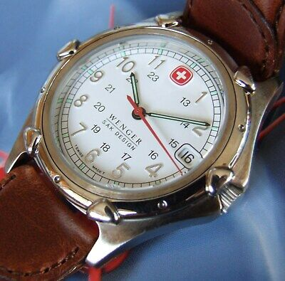 EUC MeN AweSoMe WENGER Swiss Army SAK Design Standard Issue w/Leather~BEST