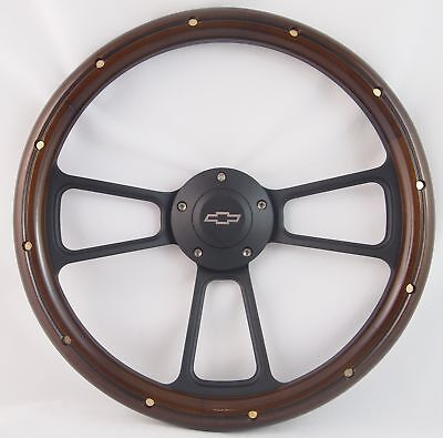 "74-94 Chevrolet/GMC Truck Models 14"" Stained Mahogany with Rivets Brass Wood ..."