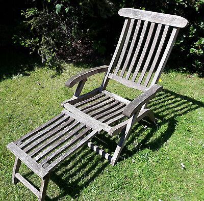 Teak Deckchair Hamburg Liegestuhl Gartenliege