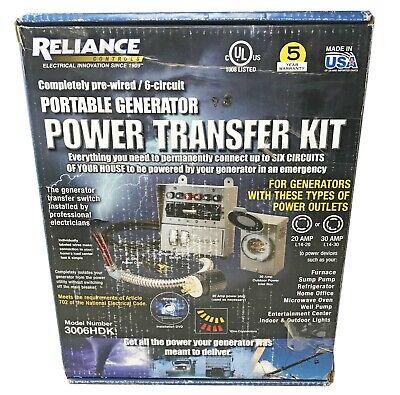 Reliance Controls 3006hdk 6-circuit Generator Power Transfer Switch - Brand New