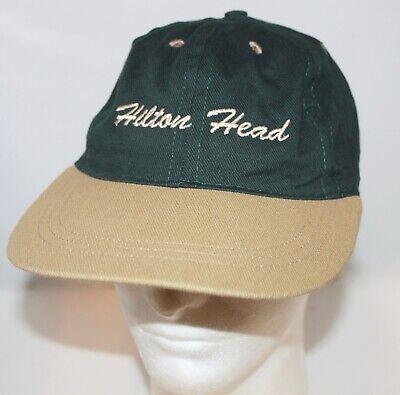 Hilton Head (Vintage Hilton Head Men's Hat Cap Five Panel Long Wide Brim Spellout Adjustable)