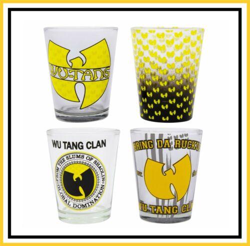 WU-TANG GLASSWARE SET / COLLECTIBLE SHOT GLASSES _ SET OF 4 (NIB)