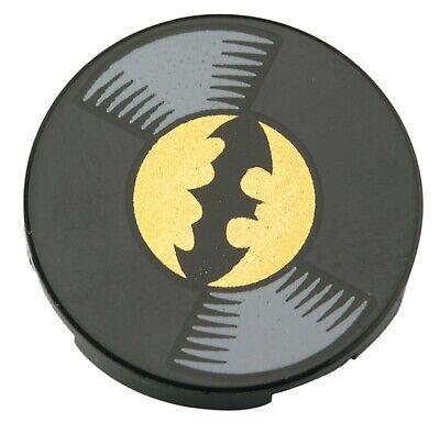 NEW LEGO - Tiles - Round 2x2 - Decorated - Vinyl Record Batman Black x1 - 70919