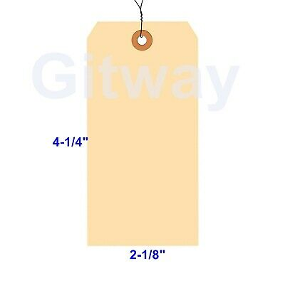 100 Pack Of 4 14 X 2 18 Size 4 Manila Inventory Shipping Hang Tags With Wire