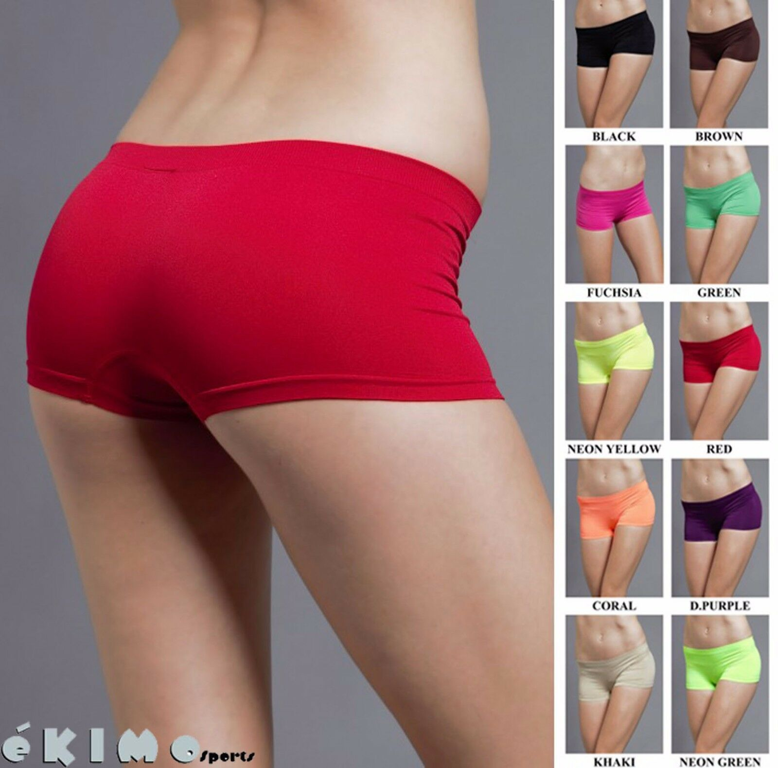 Seamless Club Dance Exercise Activewear Yoga Boy shorts Mini