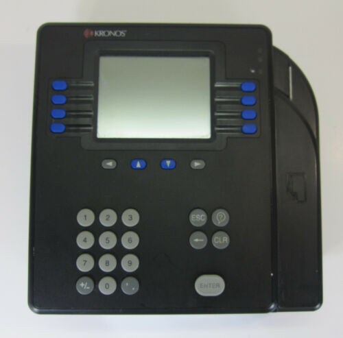 Kronos System 4500 Time Clock Terminal Badge System With Power Supply