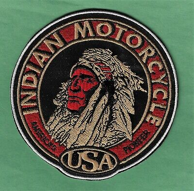 """New Indian Motorcycle American Pioneer 4"""" Inch Iron on Patch  Free Shipping"""