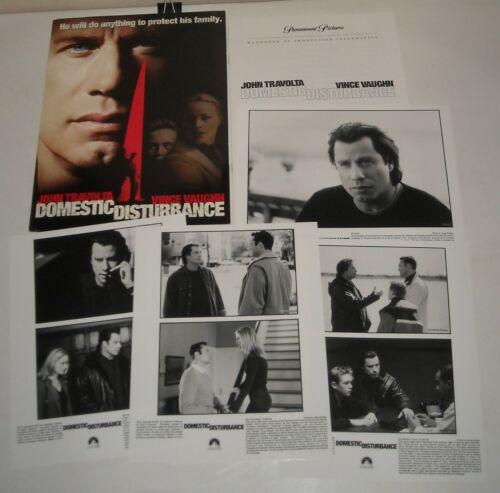 2001 DOMESTIC DISTURBANCE PROMO MOVIE PRESS KIT 4 PHOTOS JOHN TRAVOLTA THRILLER