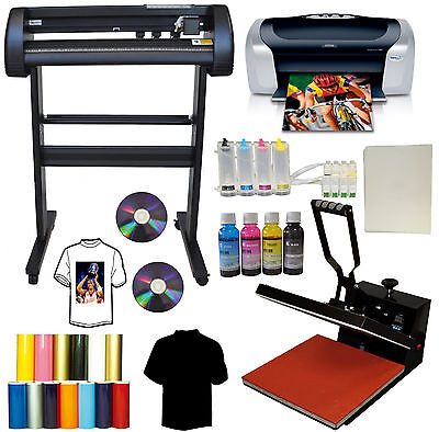 15x15 Heat Press28 500g Red Dot Vinyl Cutter Plotterprintercissink Bundle