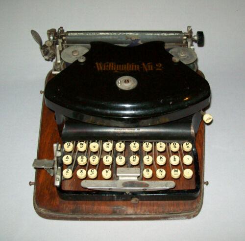 Rare Old Antique Vtg C 1900s Wellington # 2 Typewriter Thrust Strike Works Great