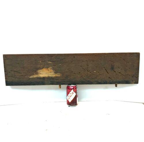 "Antique 7x29"" Q-sawn Fumed Oak Repair Wood table leaf reclaimed salvage board"