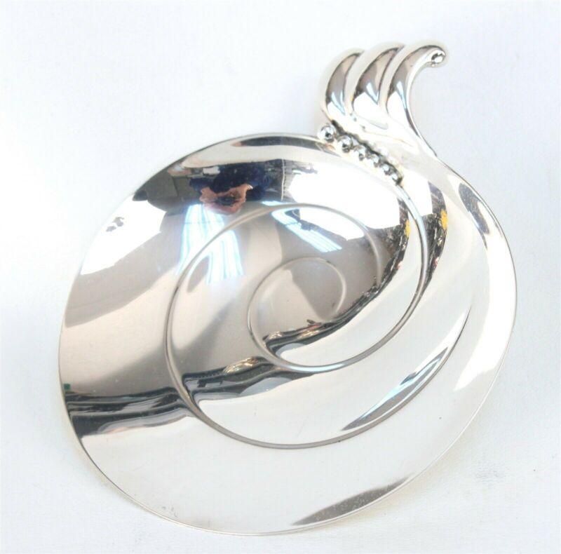 Tiffany Modernist Sterling Bon Bon Dish