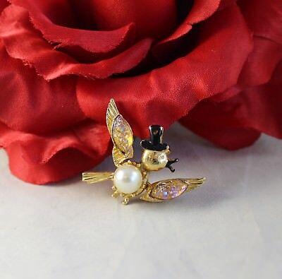 Vintage Florenza Tembler Bird Pin Brooch  CAT RESCUE