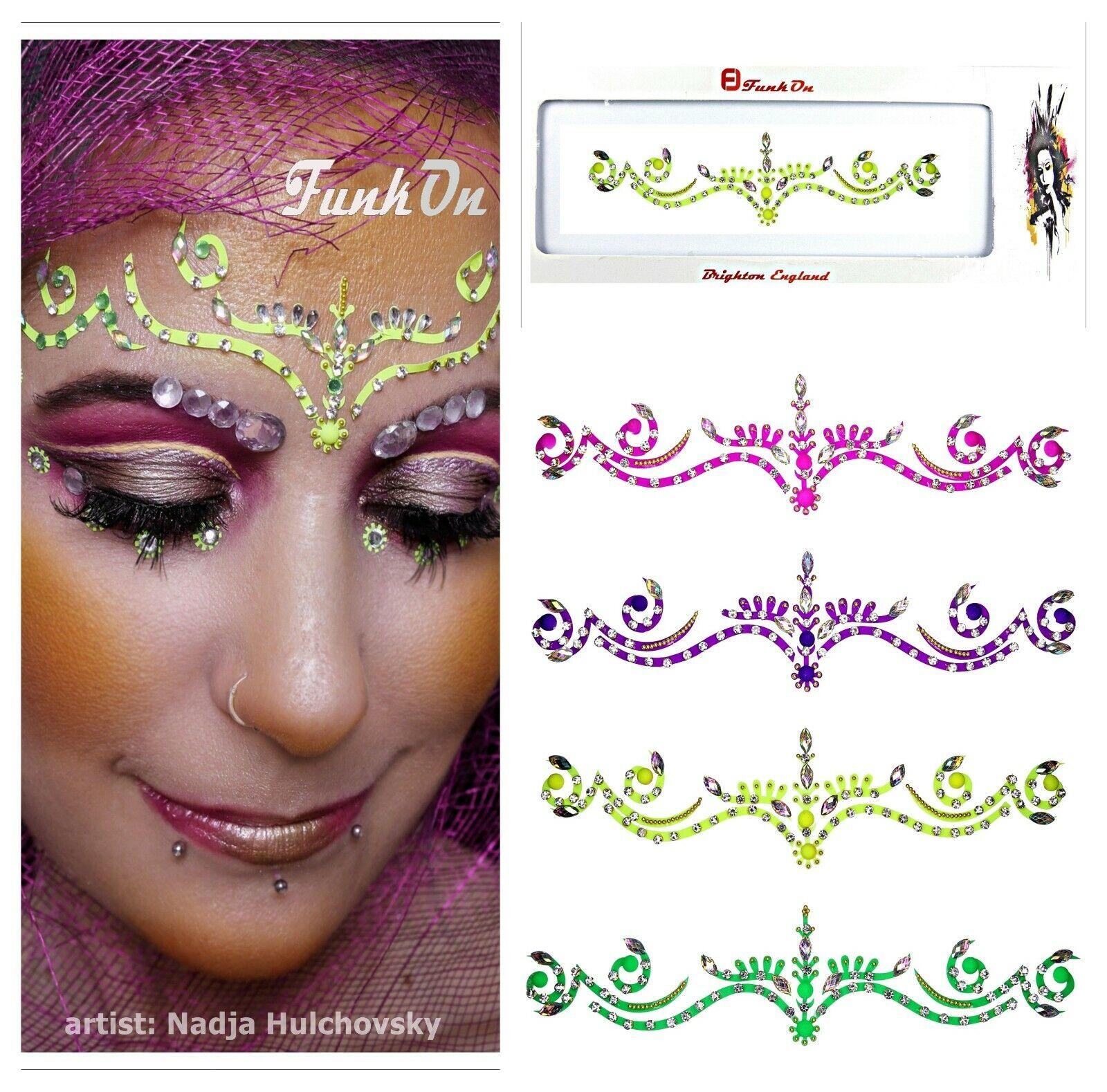 Finden, vergleichen, kaufen - Neon self adhesive BINDI-FACE GEM-FESTIVAL FACE JEWEL Body Tattoo Rave Makeup UK auf eBay.co.uk ab 1.89 GBP