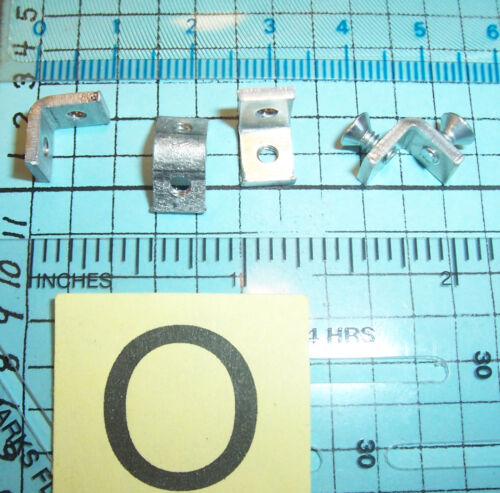 Lot O 100 Threaded Metal Rt Angle Bracket 4-40 1/4X1/4 Cabinet Box Corner Brace